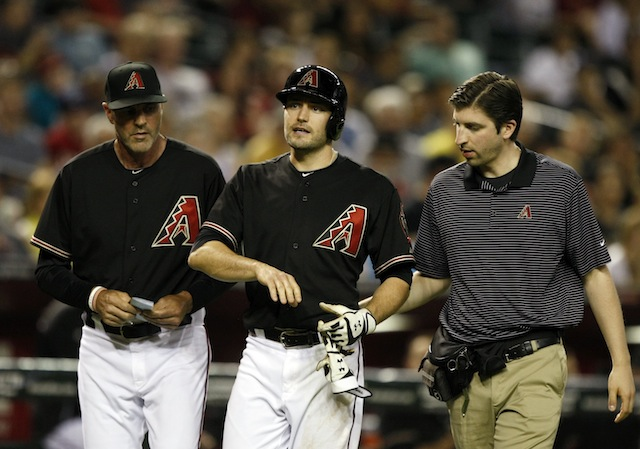 The D-backs are going to be without A.J. Pollock (center) for quite a while. (USATSI)