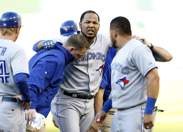 The news may not be good on Edwin Encarnacion's injured quad. (USATSI)