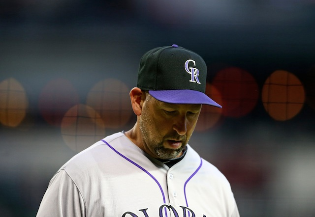 Let's just say it's been a long day for Walt Weiss and the Rockies. (USATSI)