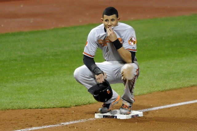 Manny Machado isn't exactly thrilled about his 2014 salary. (USATSI)