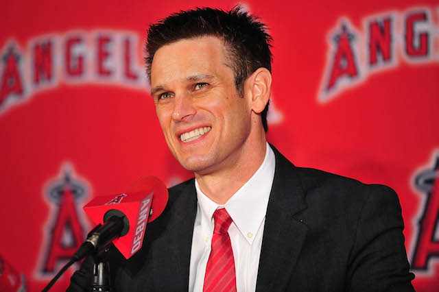 Angels GM Jerry Dipoto may have a hard time landing a starter during the waiver period. (USATSI)