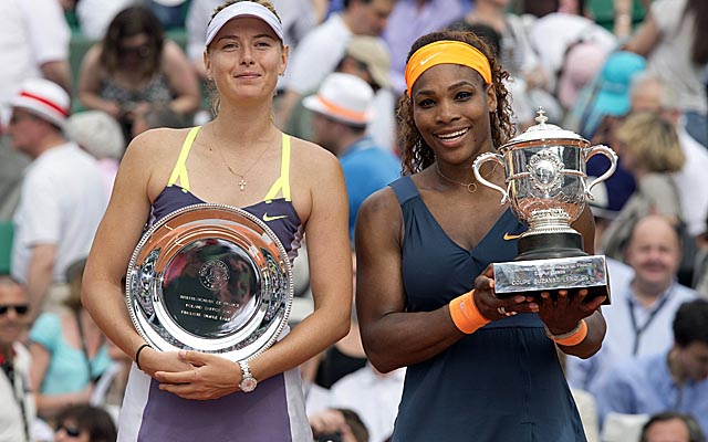 Maria Sharapova (left) has lost 13 straight matches to Williams, including this year's French Open. (USATSI)