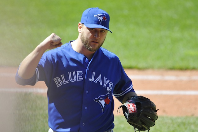 You're entitled to a fist-pump, Mark Buehrle. (USATSI)