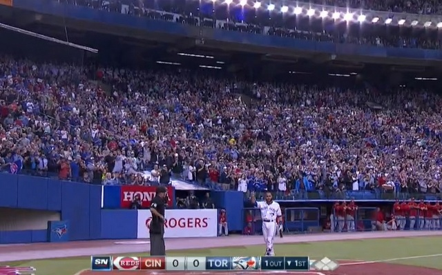 Russell Martin got a huge ovation from his hometown crowd.