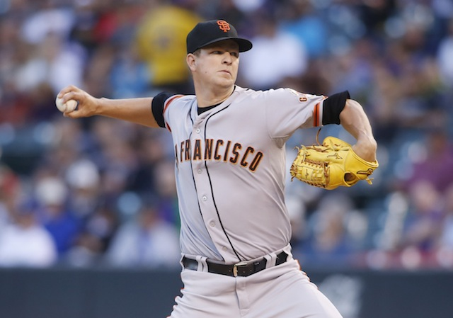 Matt Cain's balky hamstring will keep him off the mound for now. (USATSI)