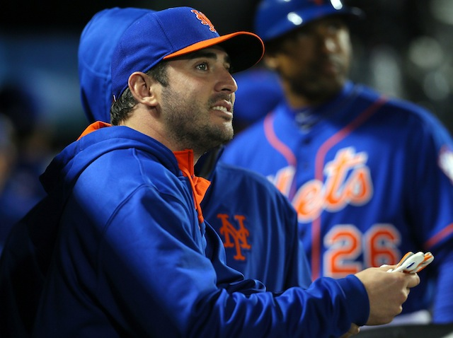 Matt Harvey has something to be happy about insofar as his healing elbow is concerned. (USATSI)