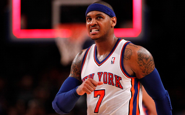 A former teammate thinks Carmelo Anthony is leaving.  (USATSI)