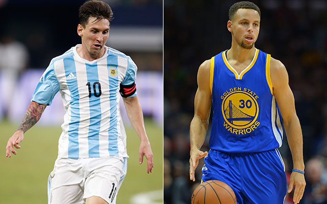 8270b35b9 WATCH  Is Stephen Curry trying to make a new friend in Lionel Messi ...