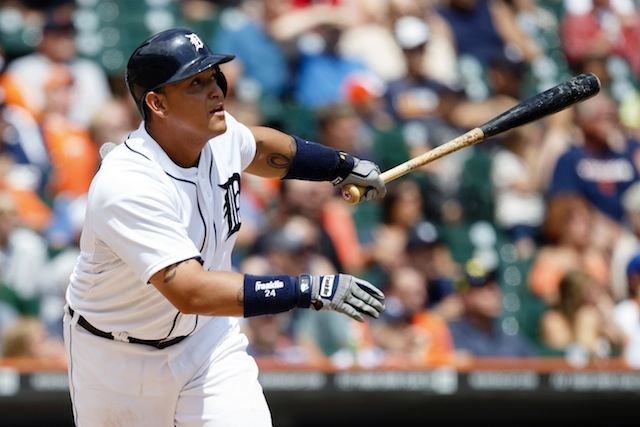 Will Detroit slugger Miguel Cabrera grab some CBS mid-season hardware? (USATSI)