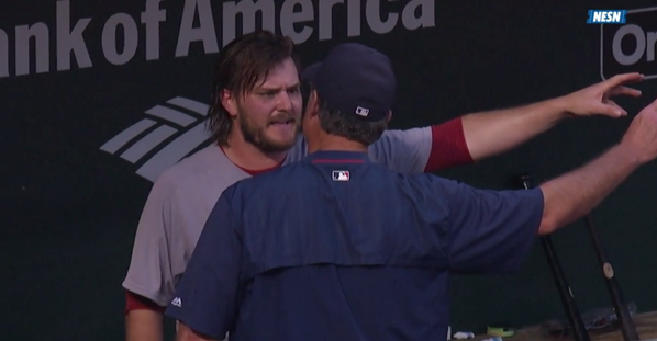 Wade Miley and John Farrell had a heated exchange Thursday.