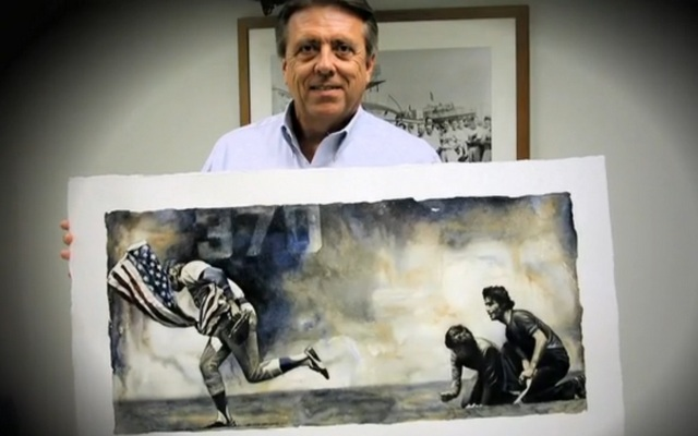 40 years ago today, Rick Monday saved an American flag from being burned on the field.