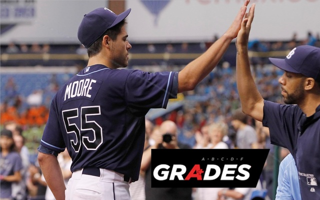 Matt Moore (left) and David Price helped the Rays to a passing grade.