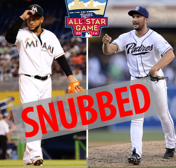 Henderson Alvarez and Huston Street were left off the All-Star team.