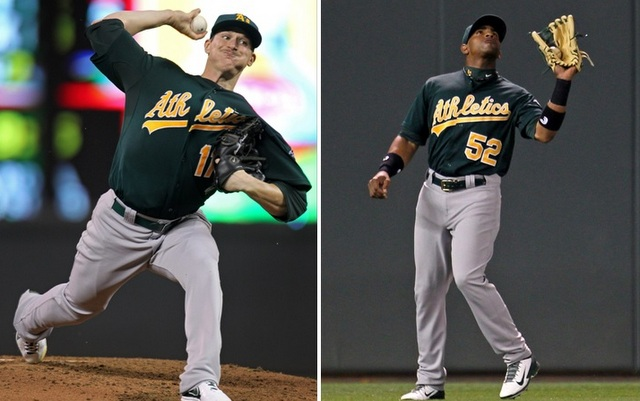 The A's will be without both Jarrod Parker and Yoenis Cespedes on Sunday.