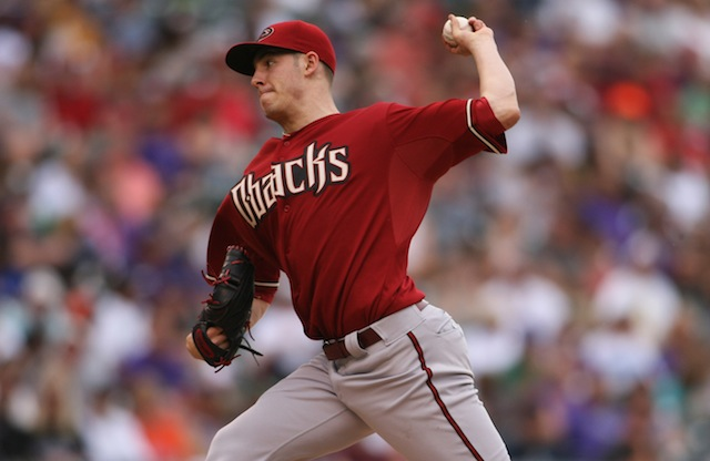 It appears that Patrick Corbin won't be doing this for quite a while. (USATSI)
