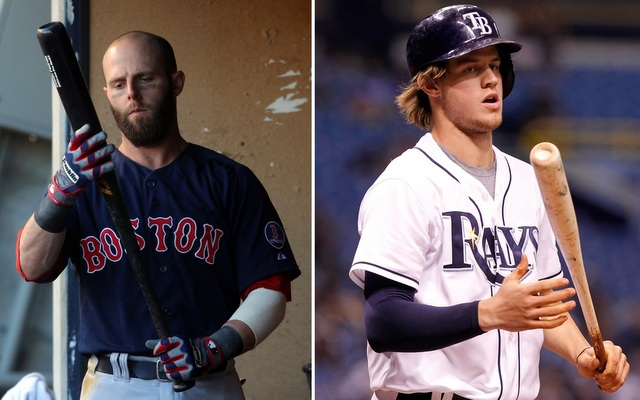 Weather permitting, Dustin Pedroia (left) and Wil Myers will bat third in Game 1 of the ALDS.