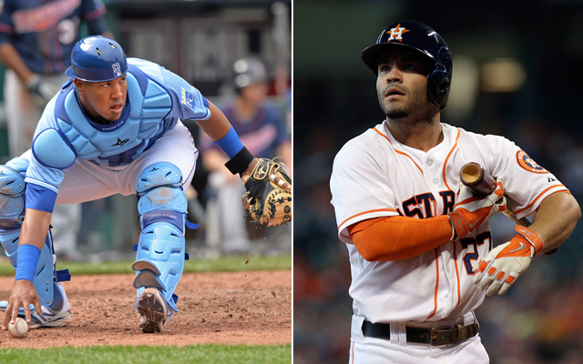 Friends since birth, Salvador Perez and Jose Altuve are now AL All-Star teammates.