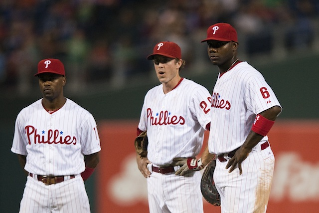 Jimmy Rollins, Chase Utley and Ryan Howard are eager to find out if they made the cut for the Phils. (USATSI)