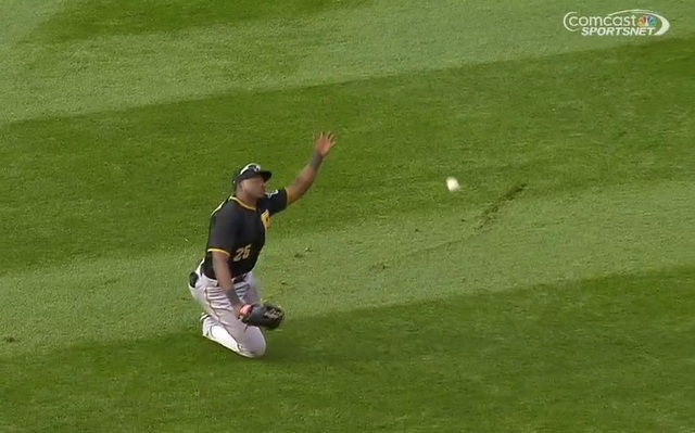 Gregory Polanco tripped and let the walk-off hit fall on Friday.