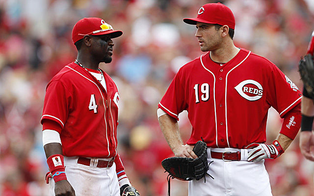 I like to imagine Brandon Phillips and Joey Votto are making fun of Thom Brennaman.