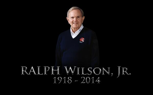 Ralph Wilson, owner of the Bills, has passed away.