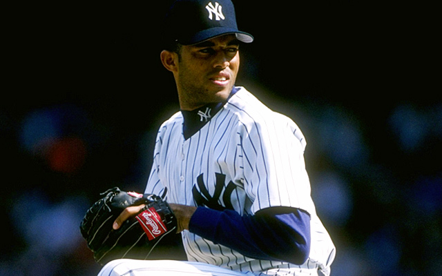 Former starter Mariano Rivera works three innings of middle relief in '96, two weeks before his first save.