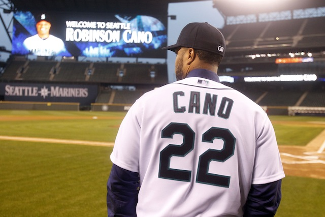 Here's Robinson Cano in Seattle, possibly wondering where Burt Reynolds is. (USATSI)