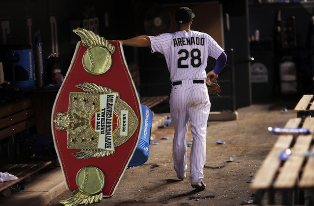 That large belt now belongs to the Rockies. (USATSI)