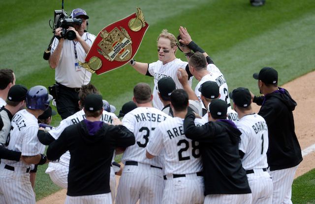 Justin Morneau and the Rockies have reclaimed the EOB Heavyweight Championship. (USATSI)