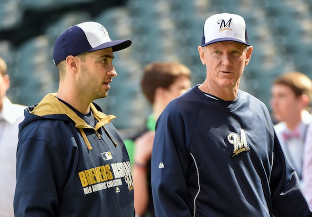 Ryan Braun (left) is just about ready to return to Ron Roenicke's lineup. (USATSI)