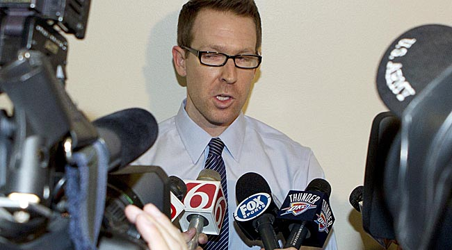 GM Sam Presti and the Thunder opted not to make big moves this offseason. (USATSI)