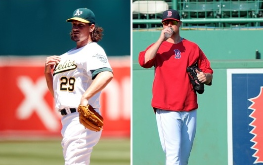 How much do the additions of Jeff Samardzija and Jon Lester improve Oakland's odds of winning it all?