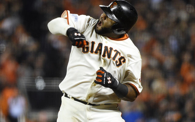 Giants come back, crush Royals, tie World Series 2-2
