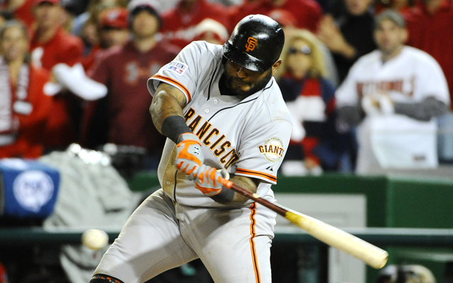 Pablo Sandoval came up with a clutch ninth inning hit in Game 2.