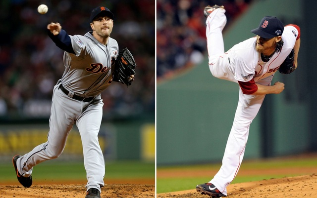 For the second time in the ALCS, Max Scherzer (l.) and Clay Buchholz will square off in Game 6.