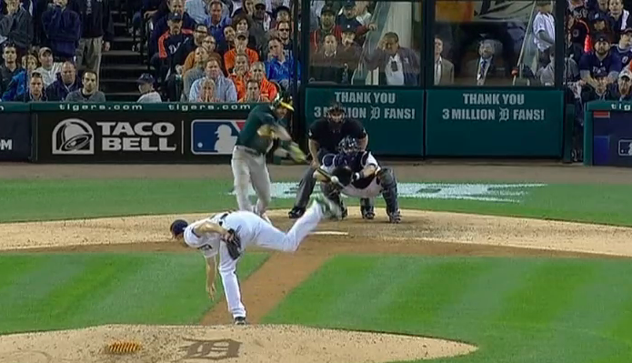 Max Scherzer's 3-1 fastball to Josh Reddick could have ended much differently.