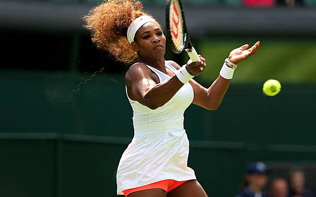 Serena Williams doesn't waste time beginning the defense of her title, steamrolling Luxembourg's Mandy Minella.  (Getty Images)