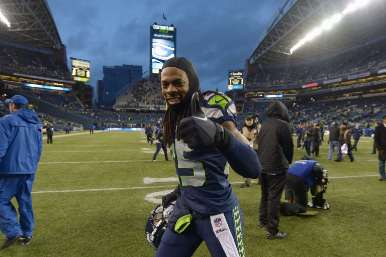 Richard Sherman wasn't this jolly after the game.