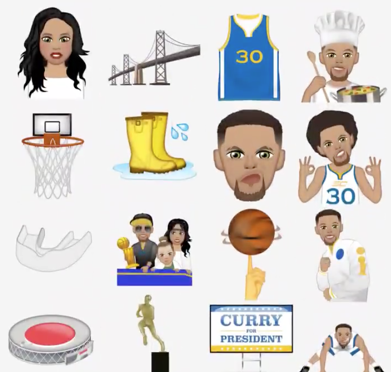 a9a15cebb43 Riley Curry is now an emoji for your phone along with Steph Curry -  CBSSports.com