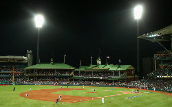 The historic Sydney Cricket Ground now hosts a baseball diamond.
