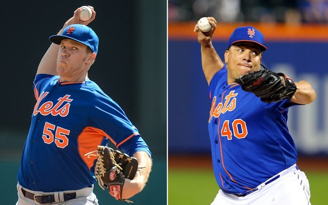 Bartolo Colon (r.) is on the market, but what could Noah Syndergaard bring the Mets?
