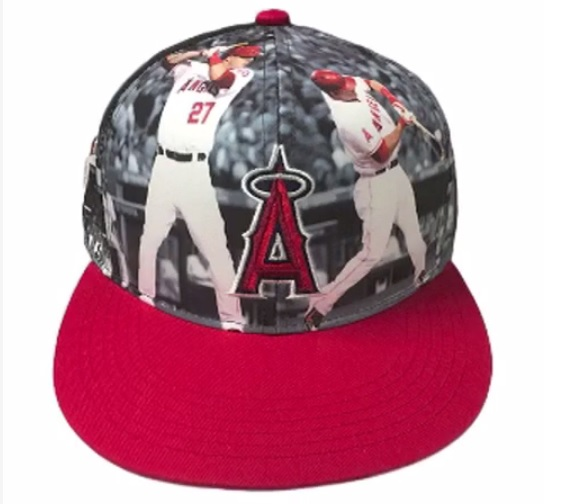 LOOK  The Angels are giving away an amazingly ugly Mike Trout hat ... 14a9271e91c