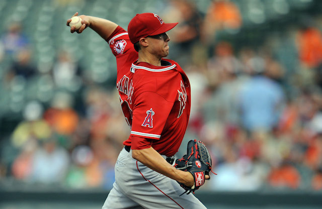 Tyler Skaggs won't be doing this again for quite a while. (USATSI)