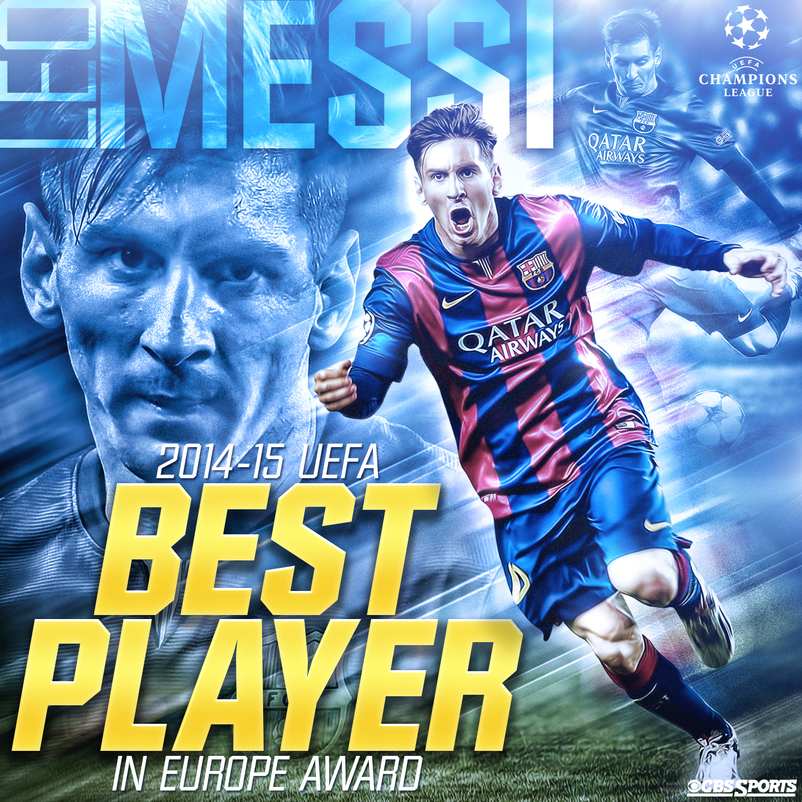Messi Beats Ronaldo For 2014 15 Uefa Best Player In Europe