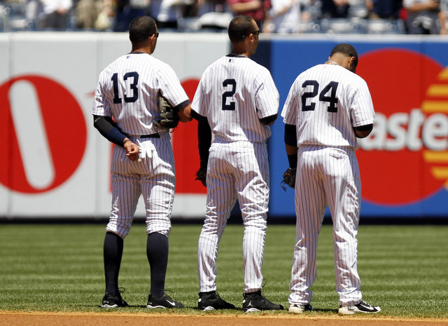 Is this three-fourths of the Yankees' all-time single-season infield?