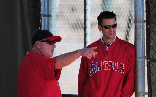 This is a big year for Angels manager Mike Scioscia (left) and GM Jerry Dipoto.