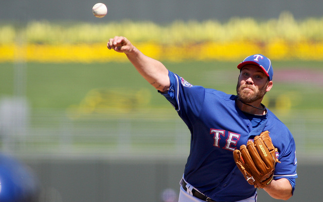 Elbow and hip problems will prevent Colby Lewis from throwing a single MLB pitch in 2013.