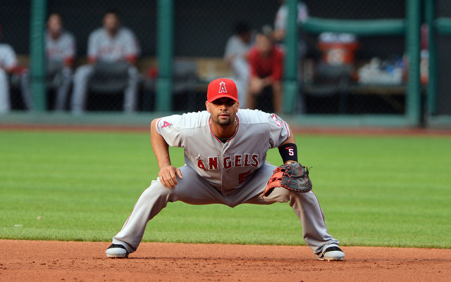 How often will Albert Pujols play the field in 2014?