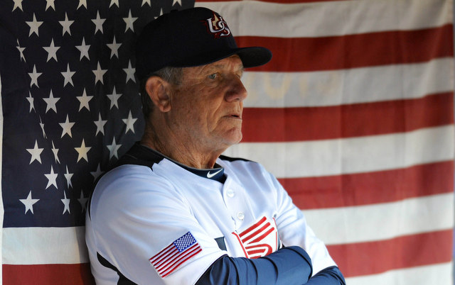 Larry Bowa was on the Team USA coaching staff for the 2013 World Baseball Classic.