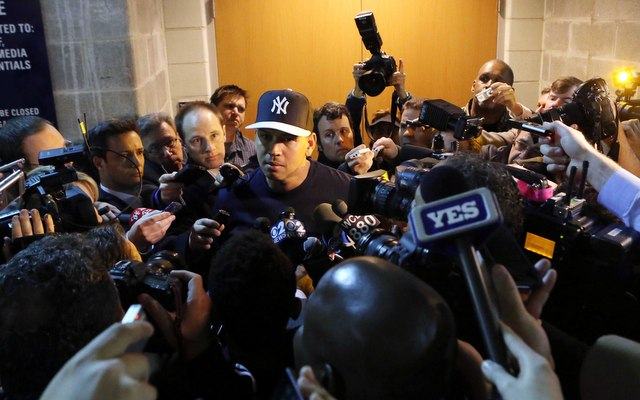 Alex Rodriguez manages to stay in the news even when he isn't playing. (USATSI)
